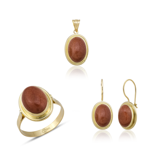 Altın Burma Kumtaş Üçlü Set