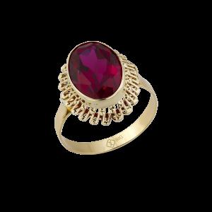 Altın Güverseli Yakut (Ruby) Renk Yüzük