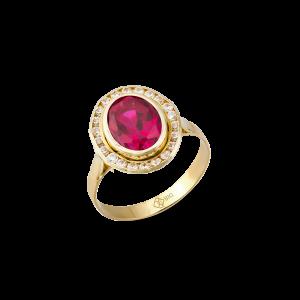 Altın Kanallı Ruby (Yakut) Renk Yüzük