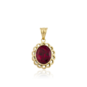 Altın Telkari Yakut (Ruby) Renk Kolye