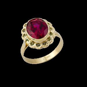 Altın Telkari Yakut (Ruby) Renk Yüzük