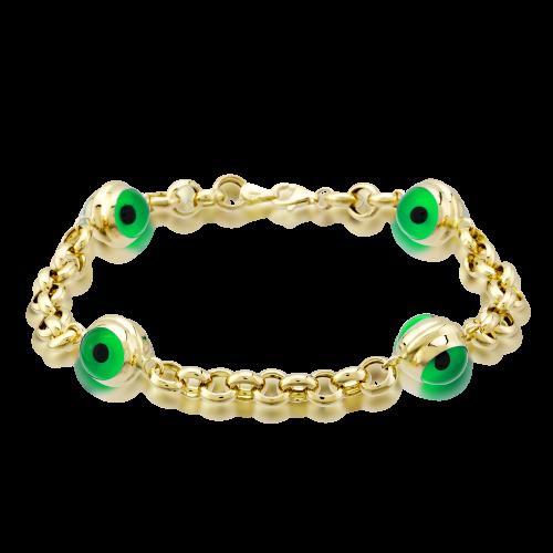 Altın 4 Gözlü Yeşil Renk Doch Bileklik
