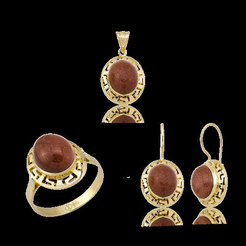 Altın Grek Kumtaş Üçlü Set