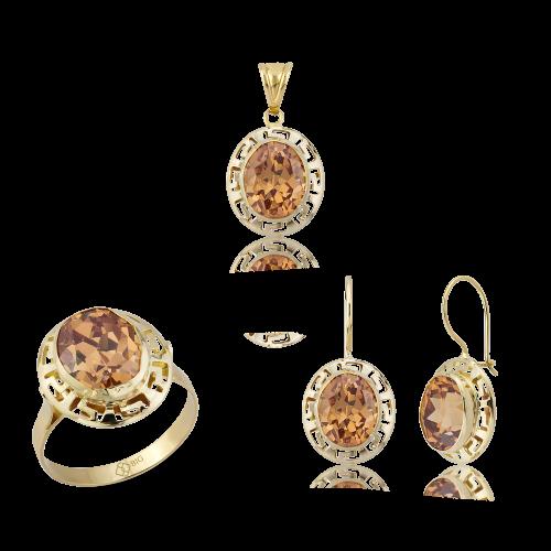 Altın Grek Şampanya Renk Üçlü Set