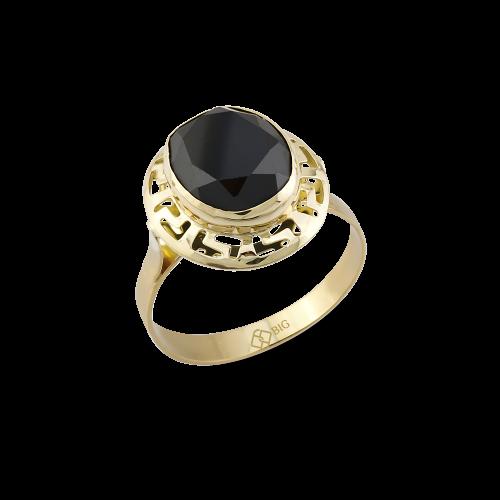 Altın Grek Siyah Renk Yüzük