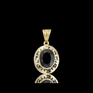 Altın Grek Siyah Renk Kolye 8x10 mm