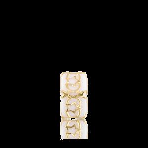 Altın Telkari Motifli Yıldız Desenli Beyaz Küp Bodrum Nazarlığı