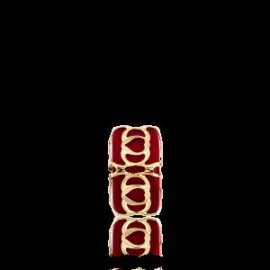 Altın Telkari Motifli Kalp Desenli Kırmızı Küp Bodrum Nazarlığı