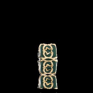Altın Telkari Motifli Yıldız Desenli Yeşil Küp Bodrum Nazarlığı