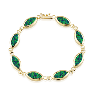 Altın Yeşil Opal Bileklik