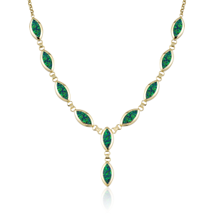 Altın Yeşil Opal Boyunluk