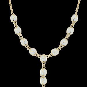 Altın S Desenli Opal Boyunluk