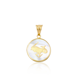 Altın Sedef Oğlak Burcu Kolye Ucu