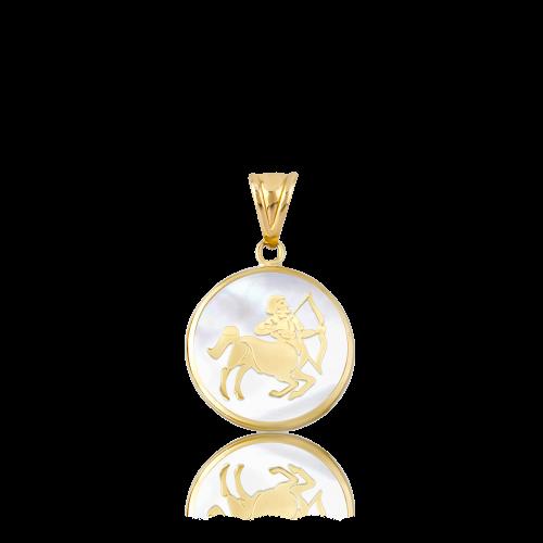 Altın Sedef Yay Burcu Kolye Ucu