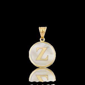 Altın Z Harfi Sedef Kolye Ucu